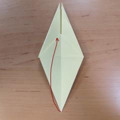 วิธีพับกระดาษเป็นดอกกุหลายแบบเกลียว 017
