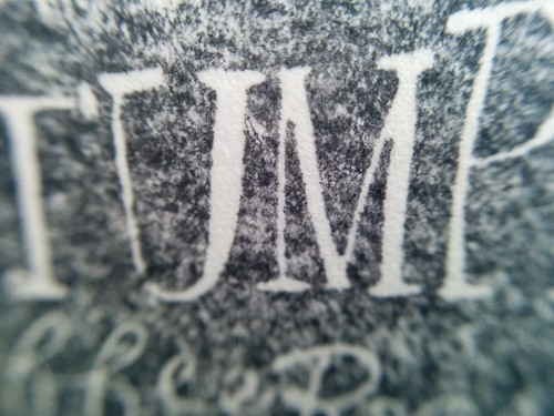 Stumptown coffee cup stamp print macro shot