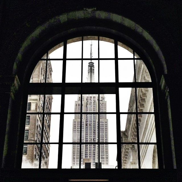 Empire Framed #nyc #midtown #empirestate #architecture