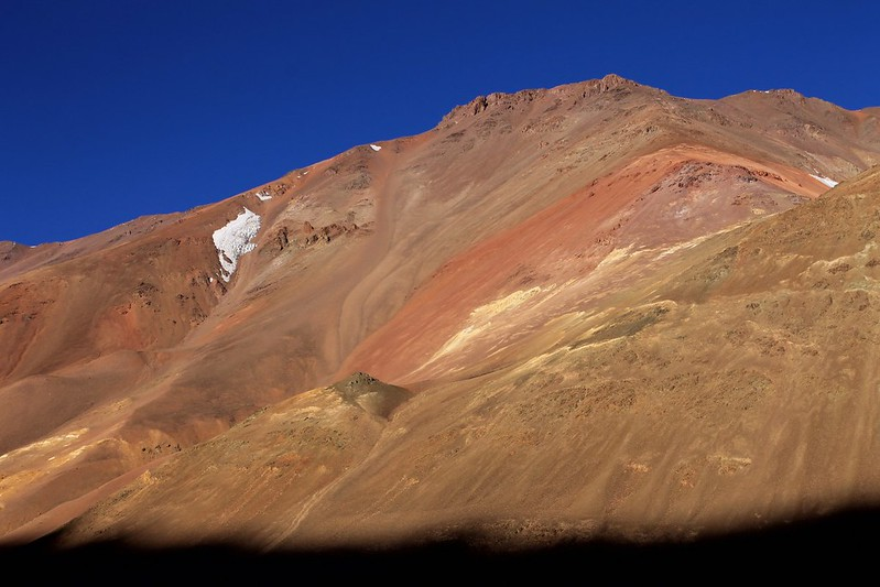 Colourful hills near Paso Agua Negra