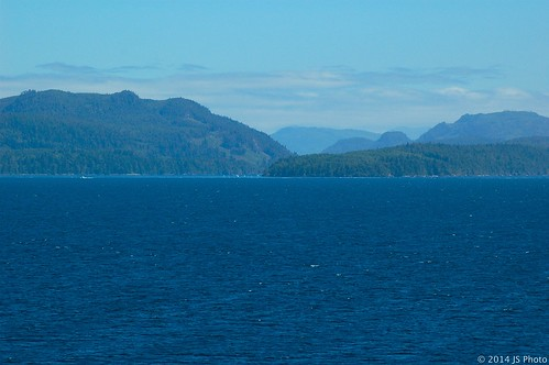 Tones of Blue.  Inside Passage, BC, July 2010