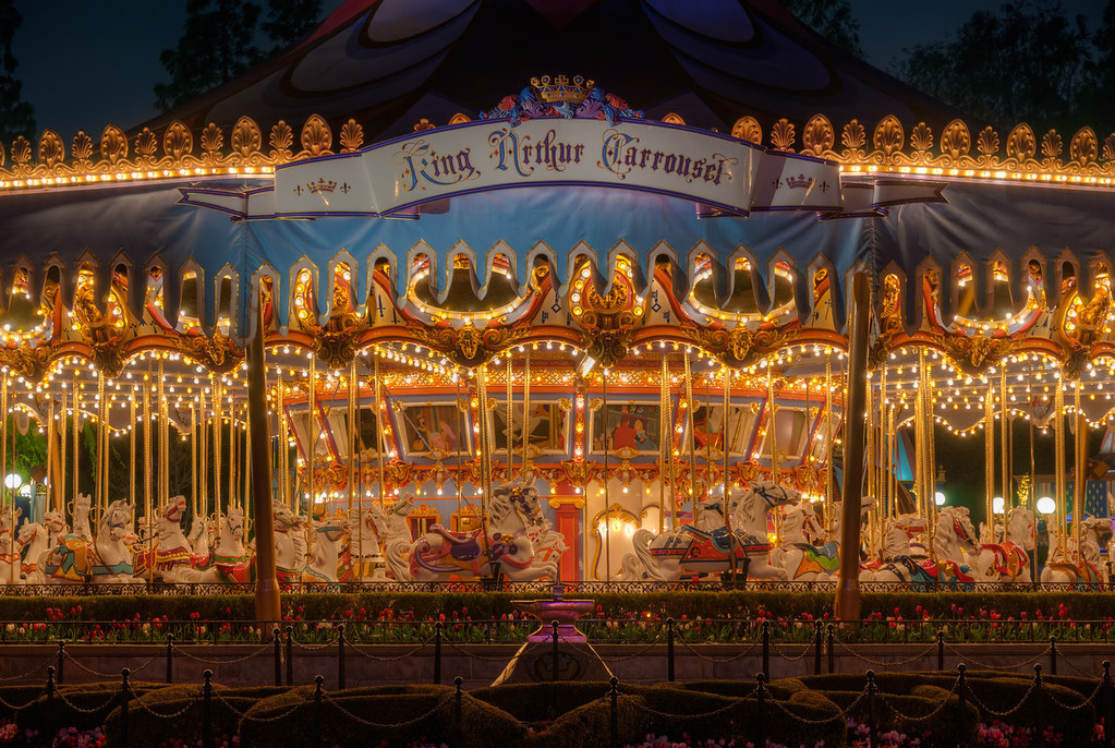 King Arthur Carrousel at Night