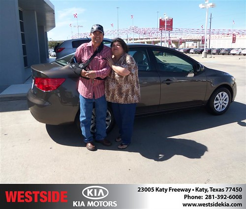 Happy Anniversary to Benito Miranda on your 2013 #Kia #Forte from Mohammed Ziauddin and everyone at Westside Kia! #Anniversary by Westside KIA