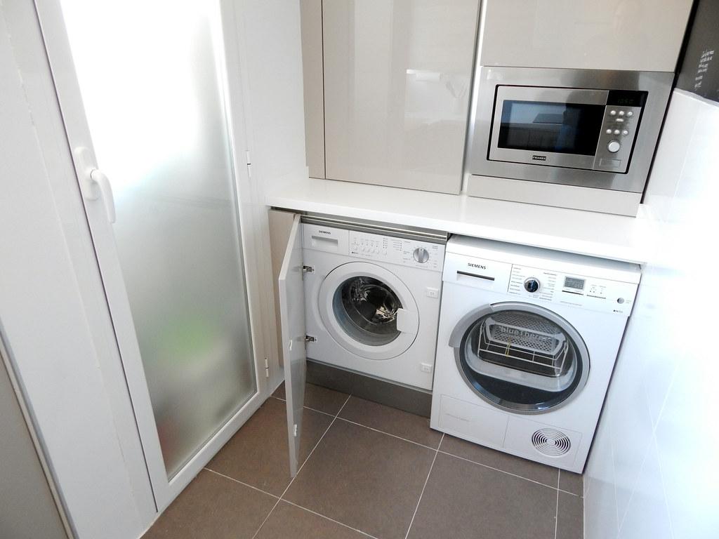 Muebles de cocina modelo 4030 - Lavadora en la cocina ...