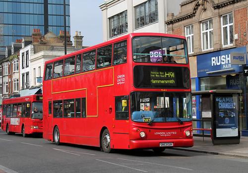 Route H91, London United, TLA2, SN53EUH
