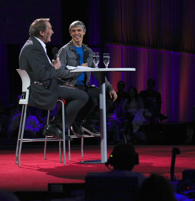 Charlie Rose interviewing Larry Page at TED2014