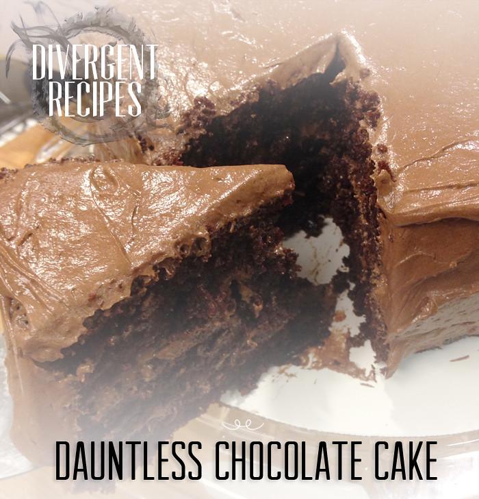Nerd Recipes Divergents Dauntless Chocolate Cake
