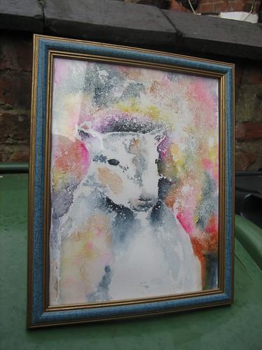 Psychedlic sheep framed!