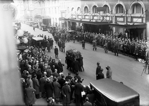 Elks Lodge No. 1/ Hotel Diplomat, NYC, NY (11/04/26 Harry Houdini Funerl Procession)