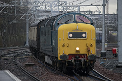 55022 'Royal Scots Grey' approaching Springburn working 5D15 to Shields TMD 05/04/14...