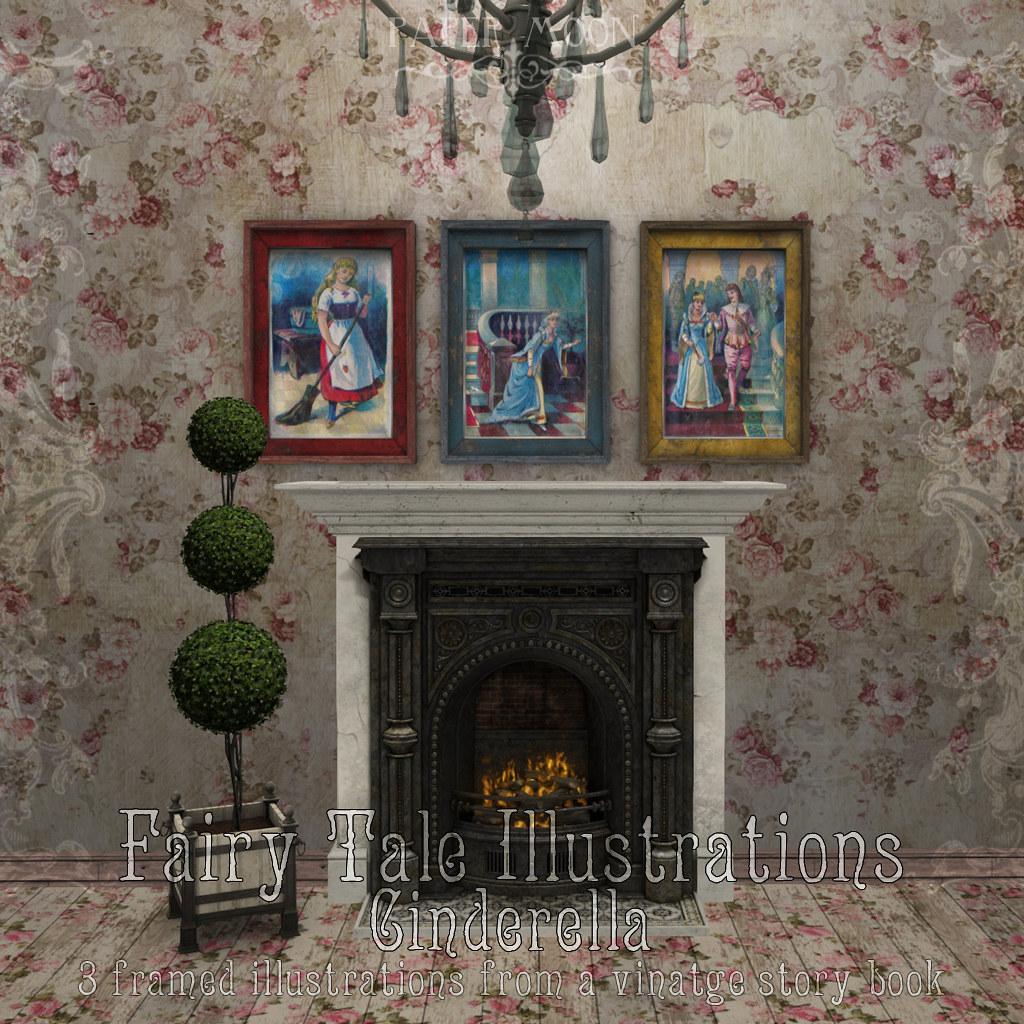 *pm* Fairy Tale Illustrations - Cinderella advert - SecondLifeHub.com