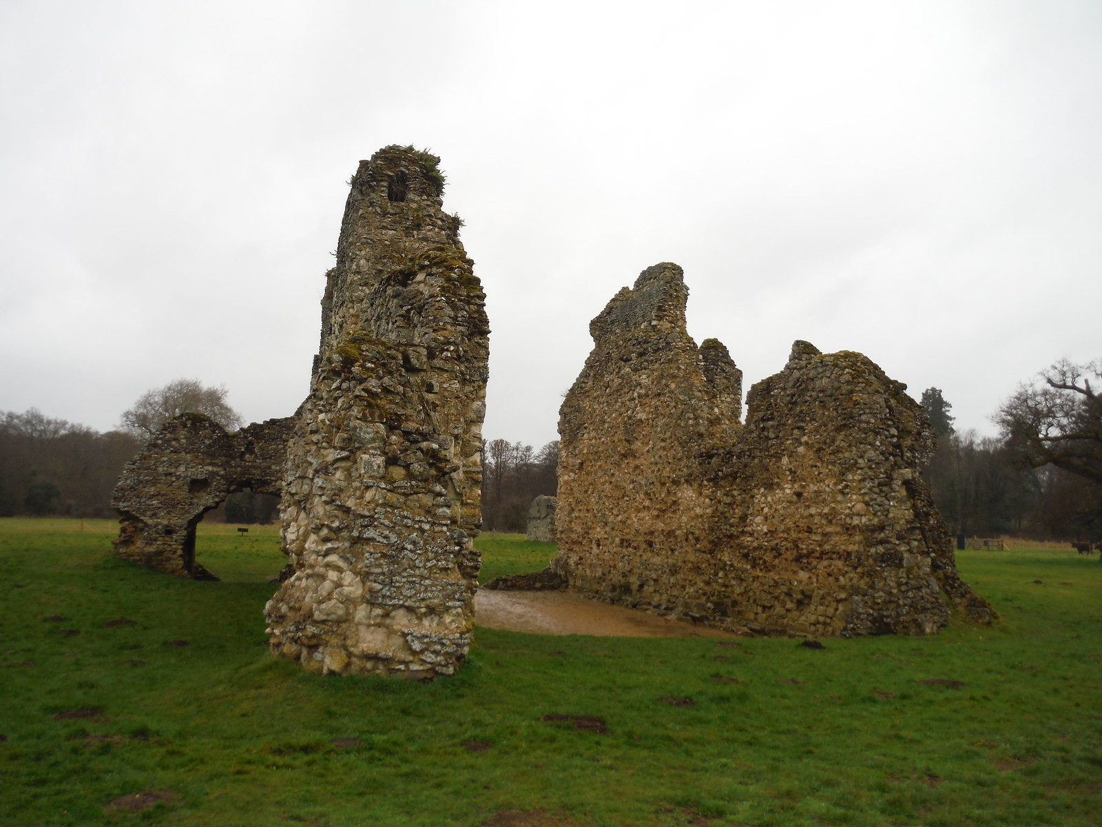 Part of Waverley Abbey Ruin SWC Walk 144 Haslemere to Farnham - Waverley Abbey Extension