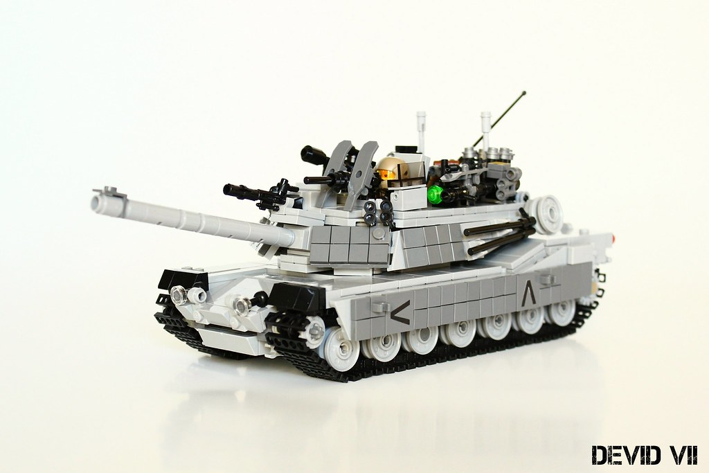 M1 Abrams (custom built Lego model)