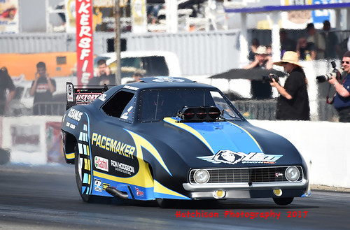 Ryan Hodgson took the Funny Car trophy back to Canada after his win at the March Meet