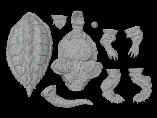 海洋堂 Sci-Fi MONSTER soft vinyl model kit collection 平成《卡美拉》三部曲 卡美拉(ガメラ) 未上色GK軟膠套件