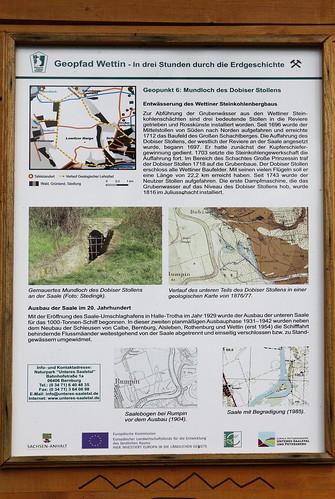 Info-Tafel zur Entwässerung