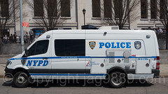 NYPD Canine Police Van, 2017 Yankees Home Opener at Yankee Stadium, The Bronx, New York City