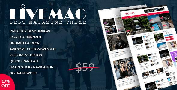 LiveMag WordPress Theme free download