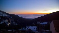 Mar de nubes sobre el valle