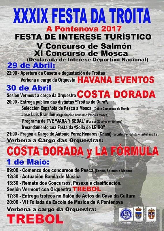 A Pontenova 2017 - XXXIX Festa da Troita - cartel
