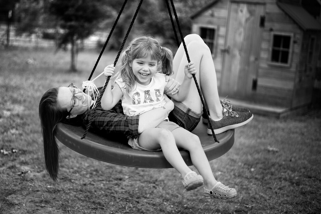 Reese and Mommy Swinging
