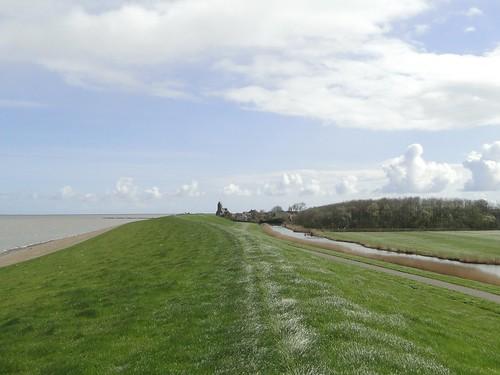 Wierum village ahead