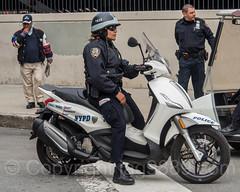 NYPD Police Scooter near Yankee Stadium, The Bronx, New York City