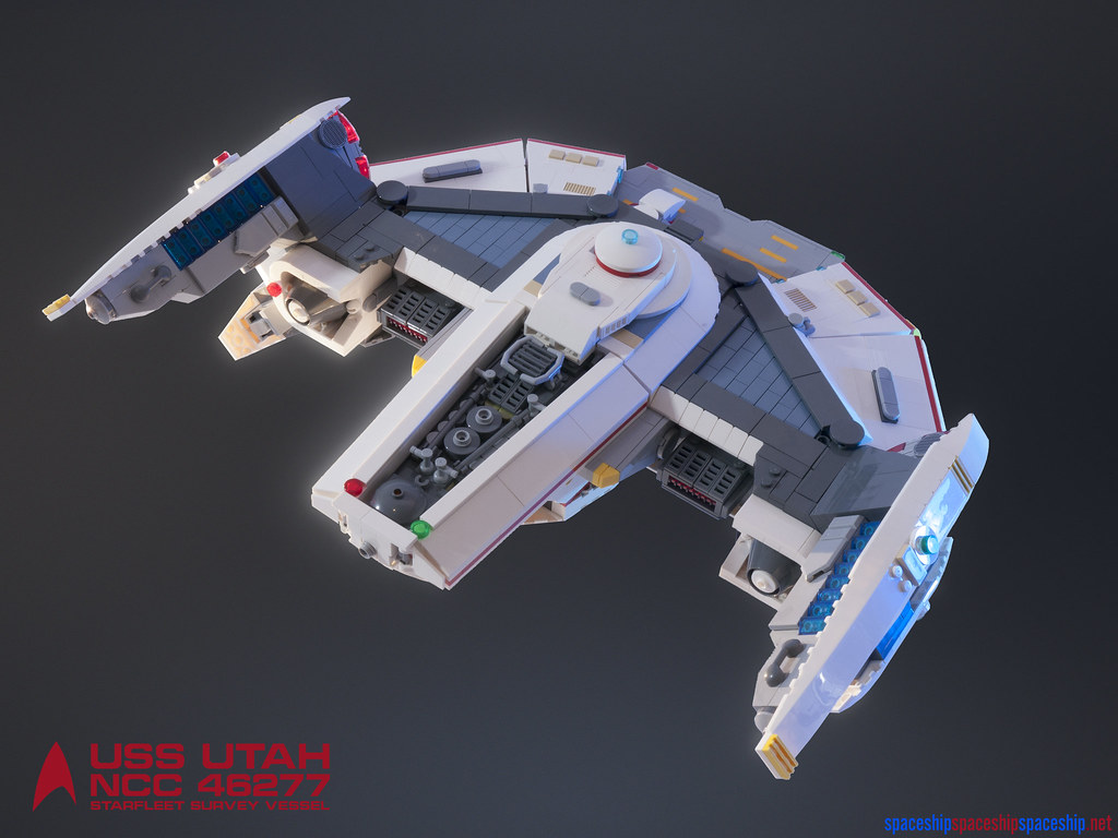 USS Utah NCC 46277 Starfleet Survey Vessel (custom built Lego model)