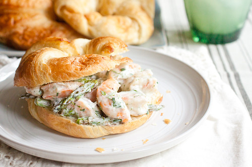 Roasted Shrimp and Asparagus Salad Sandwiches
