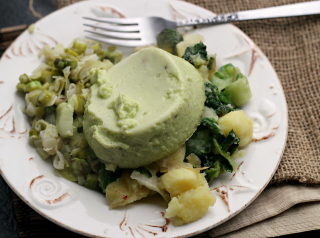 Asparagus and Leek Flan with Escarole and Potato Hash | Joanne Eats ...