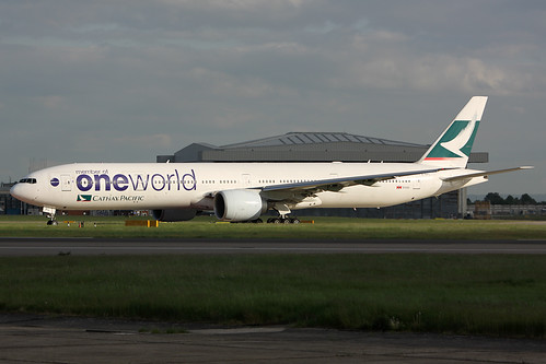 B-KPL ONEWORLD - CATHAY PACIFFIC AIRWAYS Boeing 777-367/ER (EGLL) 22/05/2013 by Mepo's World Aircraft