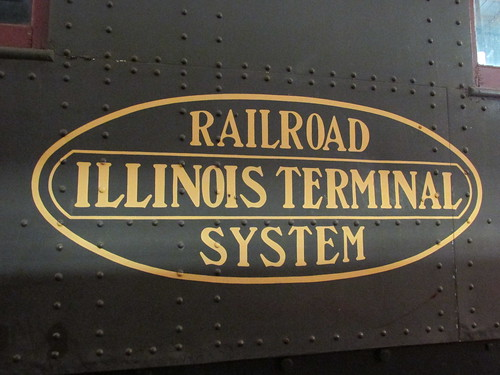 Illinois Terminal Railroad logo.  The Illinois Railway Museum.  Union Illinois.  Saturday, May 18th, 2013. by Eddie from Chicago