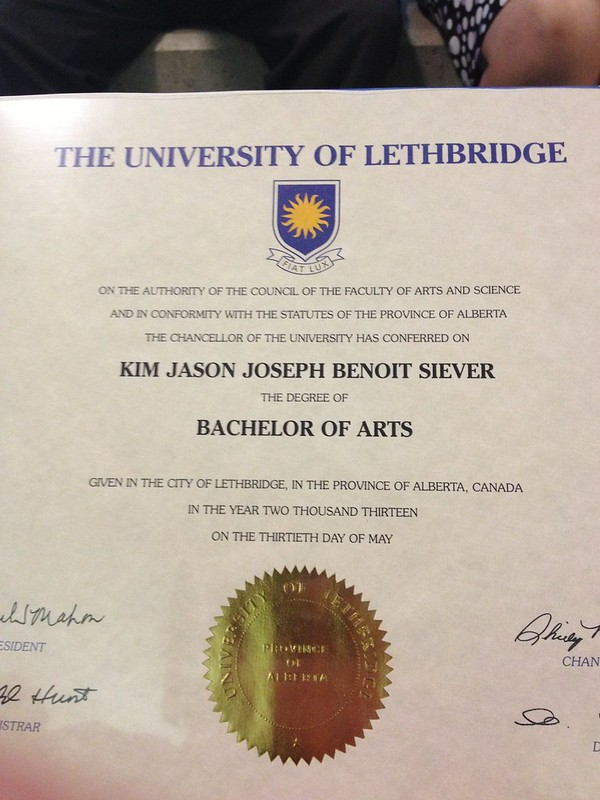 It's official. Kim Siever, B.A.