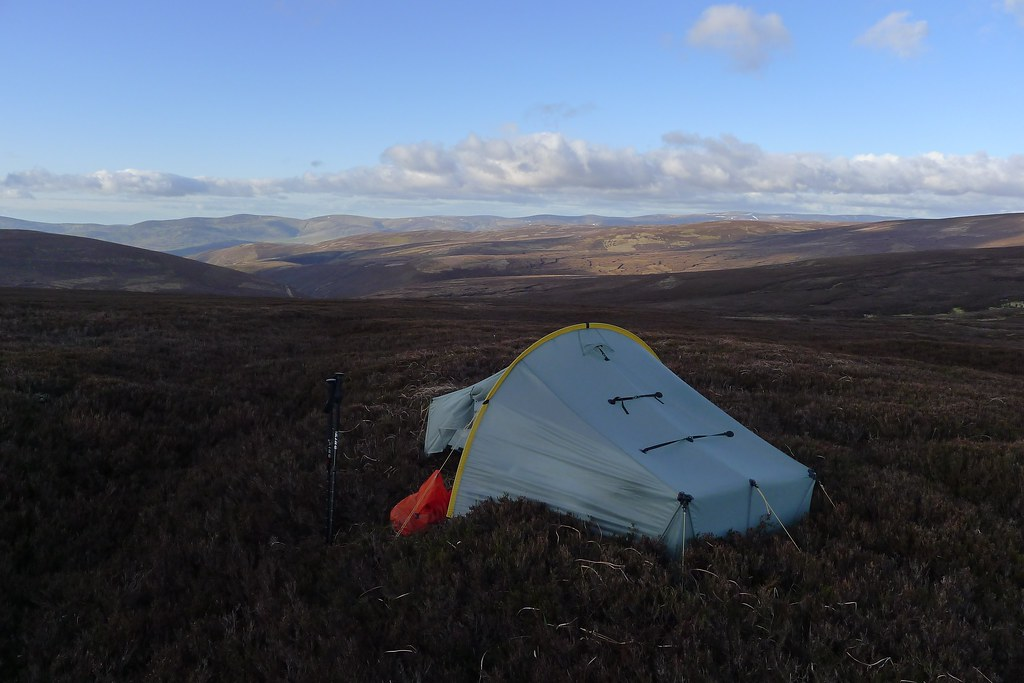 Wild camp above Glen Esk