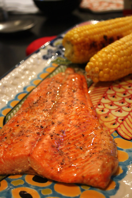 Cedar Planked Salmon with Cayenne Lime Butter