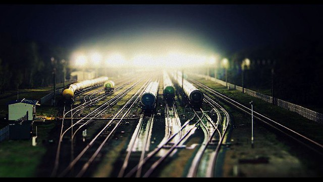 train station @ night