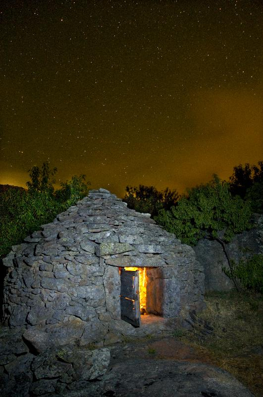 Noche de pastores en el chozo. Autor, Angelvi