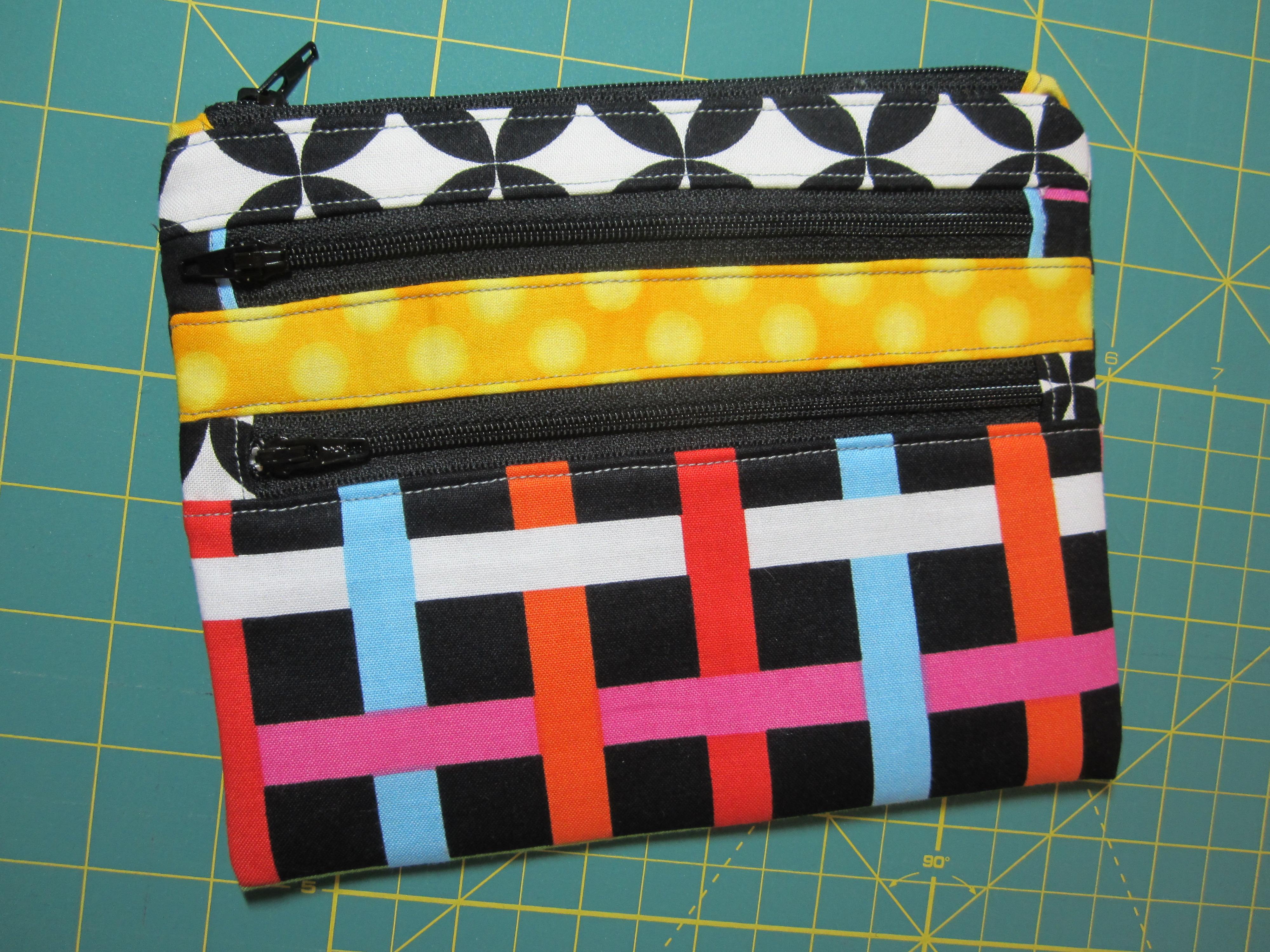 Triple-Zip Pouch - Front