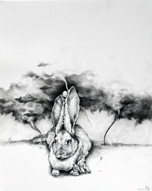 Adonna Khare, Bunny with Tornadoes, 2013