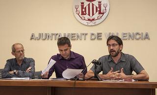 Rueda de Prensa en el Ayuntamiento de Valencia.