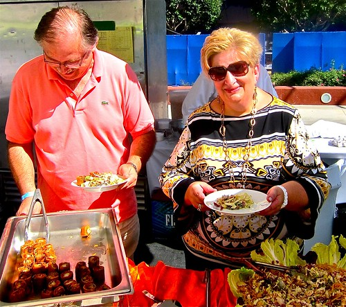 bella and husband with chinois treats