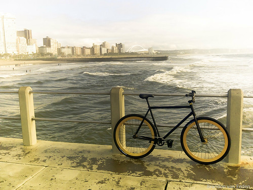 Durban North beach and bicycle