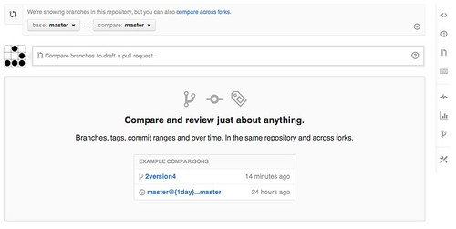 github compare and merge