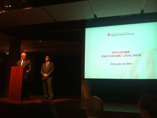 A la presentació del Programa #Enoturisme #Catalunya de @catexperience per a @TSubirats a @catfundacio