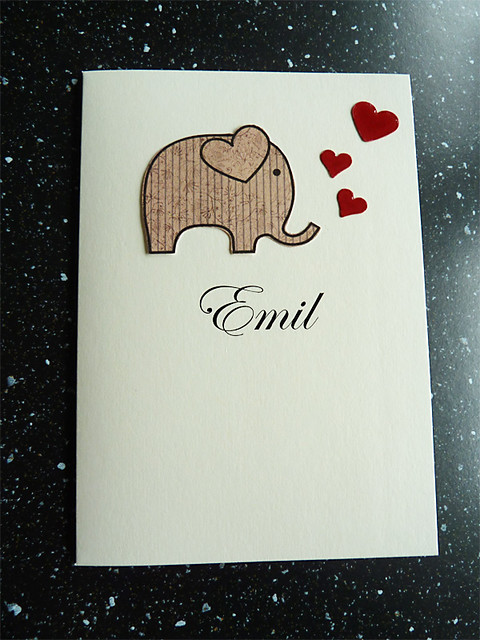 Baptism card for Emil #161