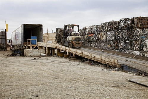 Crown C5 Forklift at Gold Metal Recyclers