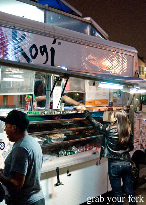 kogi bbq truck in la los angeles roy choi food truck