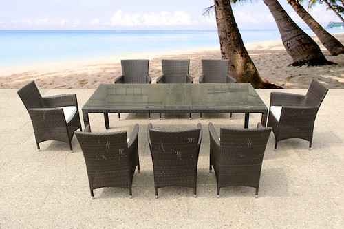 outdoor wicker dining set patio furniture