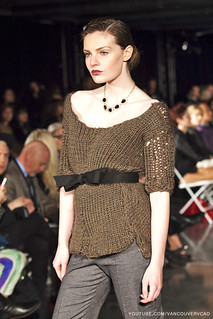 Eco Fashion Week Day 3 Evan Ducharme Fashion Collection Belladonna - pants, sweater and belt