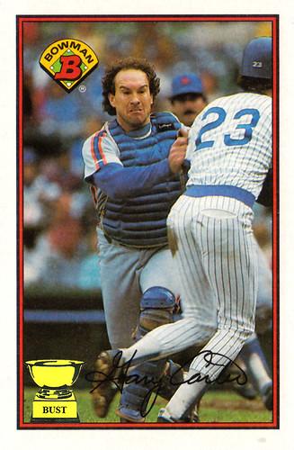 Baseball Card Bust Gary Carter 1989 Bowman Fan
